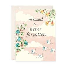 Sympathy Card Never Forgotten