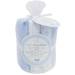 Baby Washcloths - Blue (Set of 12)