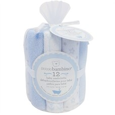 Baby Washcloths - Blue (Set of 12)