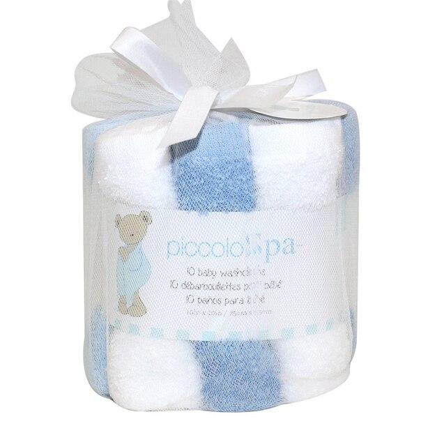 Baby Washcloths - Blue (Set of 10)