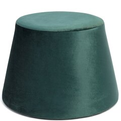 Velvet Pouf – Green
