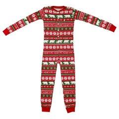Hatley Kid Union Pajamas - Union Suit, Beary X-Mas, size 6