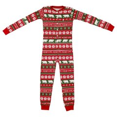 Hatley Kid Union Pajamas - Union Suit, Beary X-Mas, size 6