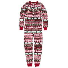 Hatley Kid Union Pajamas - Union Suit, Beary X-Mas, size 2