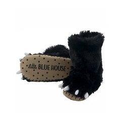 KIDS SLIPPERS, BLACK BEAR PAWS MEDIUM