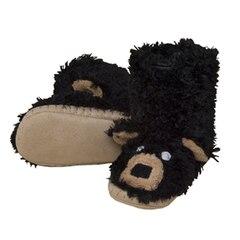 KIDS SLIPPERS, BLACK BEAR SMALL