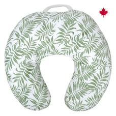 Perlimpinpin Coussin d'allaitement déhoussable en coton -  Tropical vert