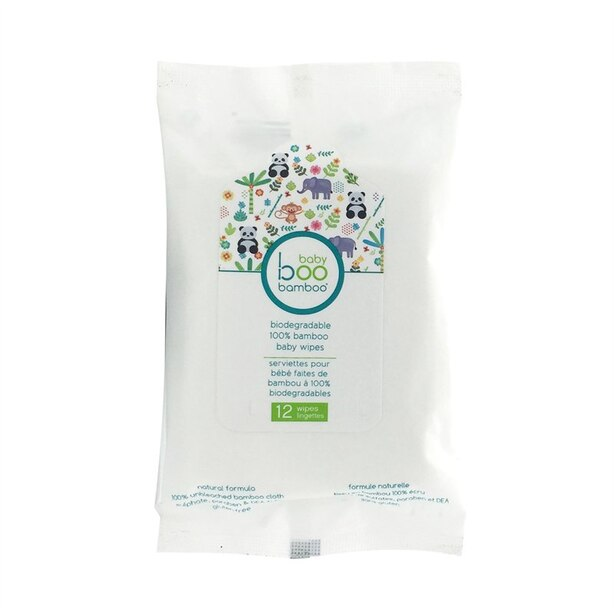 Baby Boo Bamboo Bamboo wipes - 12 Wipes