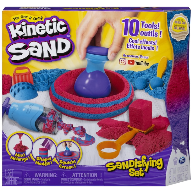 Kinetic Sand Sandisfying Set with 2lbs of Sand and 10 Tools for Kids Aged 3 and Up