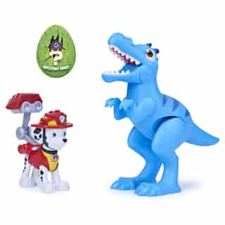 PAW Patrol Dino Rescue Marshall and Dinosaur Action Figure Set, for Kids Aged 3 and Up
