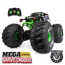 Monster Jam Official MEGA Grave Digger All-Terrain Remote Control Monster Truck with Lights 1:6…