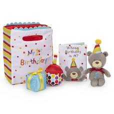 "Baby GUND My First Birthday Stuffed Plush Playset, 5 Pieces, 8"""