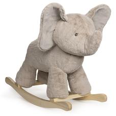 "Baby GUND Elephant Rocker with Wooden Base Plush Stuffed Animal Nursery, Gray, 23"""