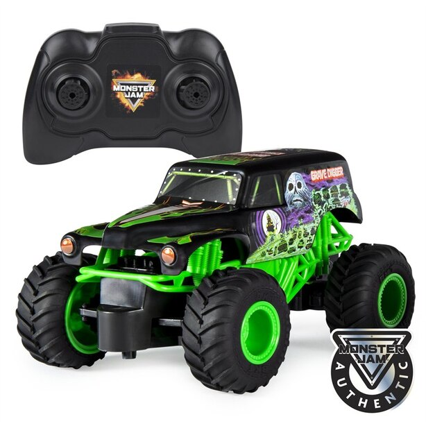 Monster Jam Official Grave Digger Remote Control Monster Truck 1:24 Scale 2.4 GHz