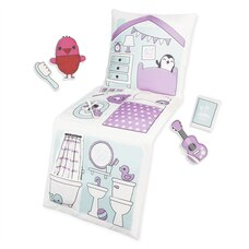 Sago Mini Foldable Throw Pillow Playset Robin's Dollhouse with Plush Cooking Accessories