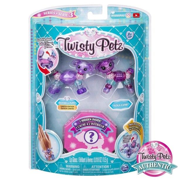 Twisty Petz Series 3 3-Pack Rufferella Puppy Lola Lamb and Surprise Collectible Bracelet Set