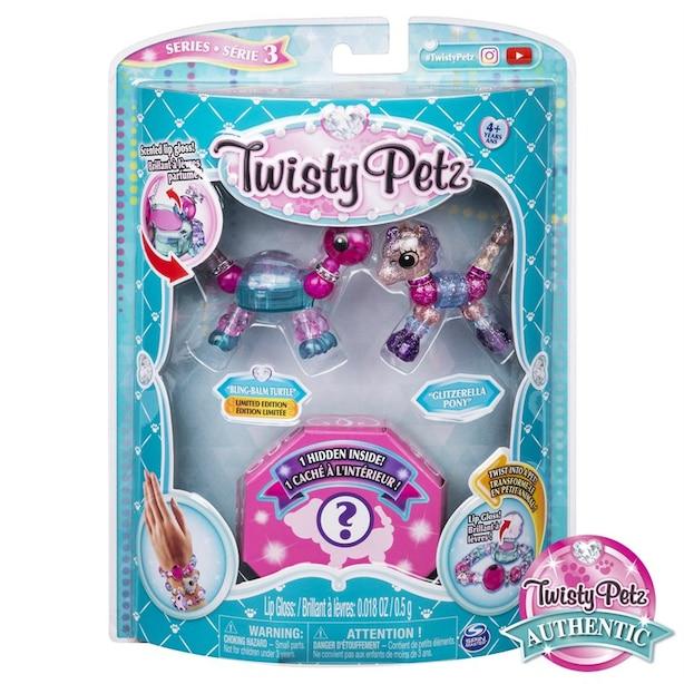 Twisty Petz Series 3 3-Pack Bling-Balm Turtle Glitzerella Pony and Surprise Collectible Bracelet Set