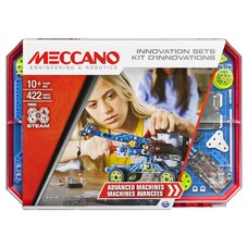 Meccano Advanced Machines Innovation Set S.T.E.A.M. Building Kit with Real Motor