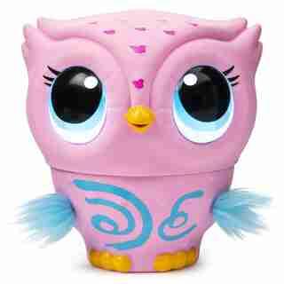 Owleez Interactive Flying Baby Owl Pink