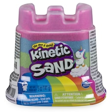 Kinetic Sand, Moule simple Licorne arc-en-ciel de 141 g, pour les enfants à partir de 3 ans