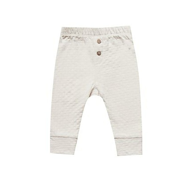 Quincy Mae Pointelle Pajama Pant 0-3 Months Pebble