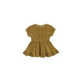 Terry Dress - Ocre - 0-3 Months