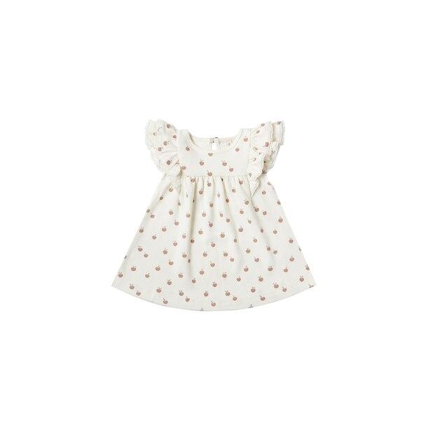 Flutter Dress - Ivory / Peach - 6 - 12 Months