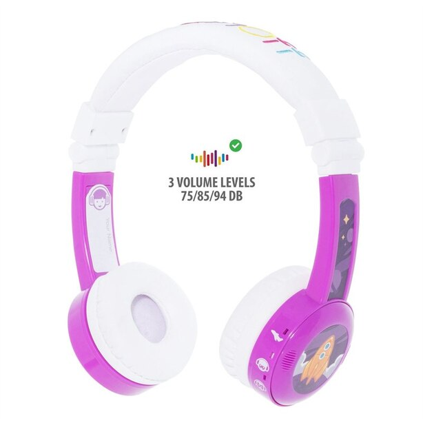 BuddyPhones InFlight, Headphones - Purple