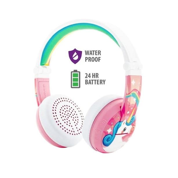 BuddyPhones Wave Wireless Headphones  - Unicorn Pink