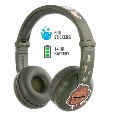 BuddyPhones Play Wireless Headphones - Amazon Green