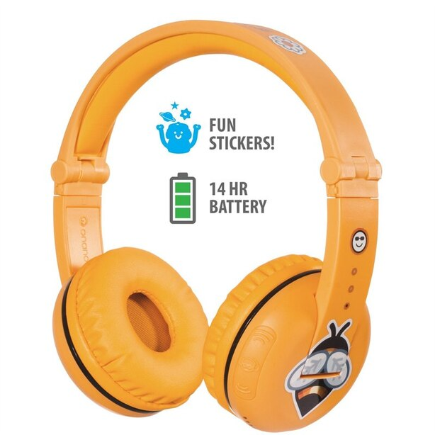 BuddyPhones Play Wireless Headphones - Safari Yellow