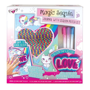 Fashion Angels® Magic Sequin Journal and Patch Design Kit