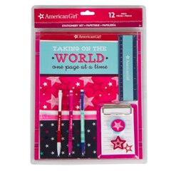 American Girl 12pc Stationary Set (Pink Star)