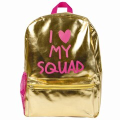 I Love My Squad Backpack, Gold Metallic