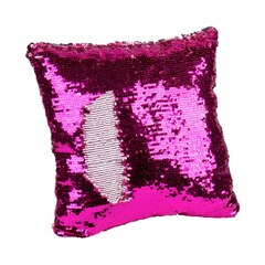 MAGIC SEQUINS PILLOW, PINK SILVER