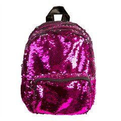 MAGIC SEQUINS MINI BACKPACK, PINK/SILVER