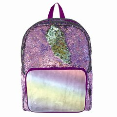 MAGIC SEQUINS BACKPACK, PURPLE HOLOGRAPHIC/SEAFOAM GREEN