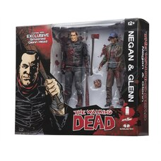 Ensemble de 2 figurines Walking Dead : Negan et Glenn