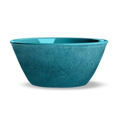 Tarhong Potters Reactive Teal Melamine Outdoor Bowl by Tar Hong