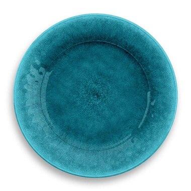 Tarhong Potters Reactive Teal Melamine Outdoor Dinner Plate by Tar Hong