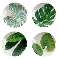 Amazon Floral Salad Plates – Set of 4