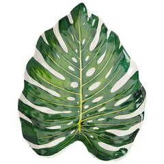 MONSTERA LEAF MELAMINE PLATTER