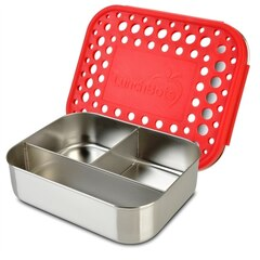 LunchBots Classic Trio Bento Lunch Container Red Dots