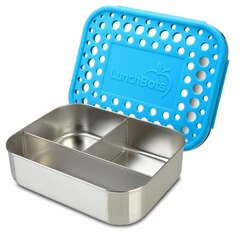 LunchBots Classic Trio Lunch Container Aqua Dots