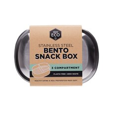 BENTO STAINLESS STEEL 3-COMPARTMENT SNACK BOX