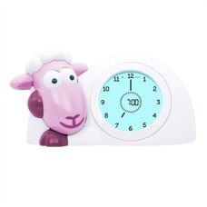 ZAZU Sleeptrainer Clock Sam the Sheep Pink