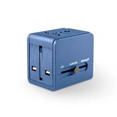 Logiix World Traveler USB Charger Travel Adapter - Blue
