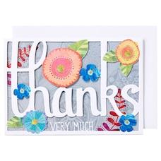Cartes de remerciement découpées au laser – Fleurs, ensemble de 10