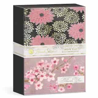 Cherry Blossoms Note Card Duo Set