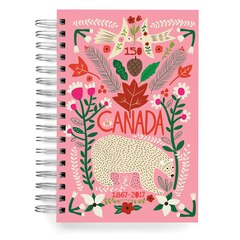 ecojot Canada 150 Jumbo Spiral Journal - Polar Bear, Pink